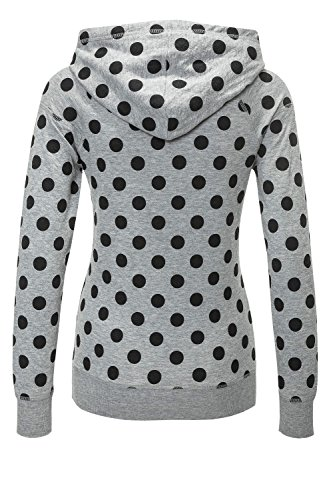 Only Damen Hoodie Kapuzenpullover Sweatshirt Light Grey Melange/Black