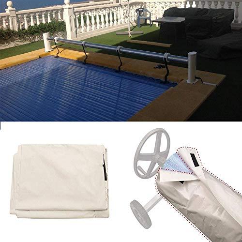 Destinely Aufrollvorrichtung Für Aufstellpools Kunststoff Für Becken Mit Einem Schutz Versehen Wasserabweisenden Pool Solar Cover Reel (Solar-pool-reel)
