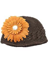 24bf3e4074a2 Demarkt Bonnet de Chapeau Tricot Avec Dessin de Chrysanthème et Cristal  Simulé pour Bébé Fille Tour