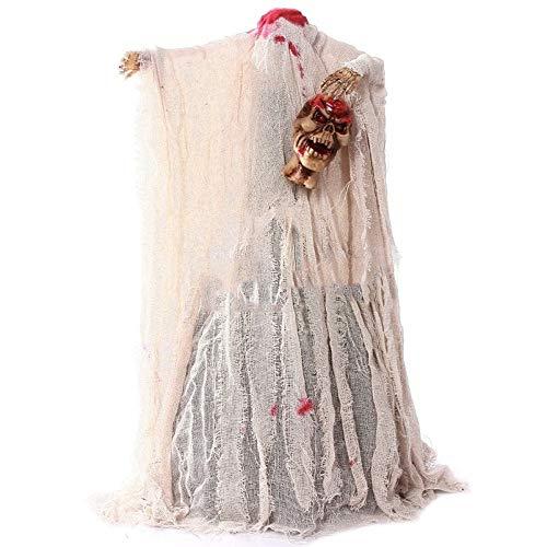 ZBW Halloween-Horror-Dekoration Stimmsteuerung Headless Ghost Decapitated Ghost für KTV Bar Spukhaus ()