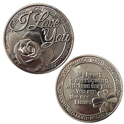 LUCKY COIN SENTIMENTAL GOOD LUCK COINS ENGRAVED MESSAGE KEEPSAKE GIFT SET CHARM : everything 5 pounds (or less!)