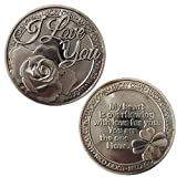 LUCKY COIN SENTIMENTAL GOOD LUCK COINS ENGRAVED MESSAGE KEEPSAKE GIFT SET CHARM (I Love You)