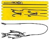 Black Cat Big Bait Ghost 1,40m 100kg - Welsmontage für große Köderfische, Wallermontage zum Angeln auf Waller, Wallerrig für Welse, Größe:8/0 / 3/0 / 3/0