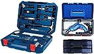 Bosch 2.607.002.790 All-in-One Metal Hand Tool Kit (Blue, 108-Pieces) + Bosch Freedom Kit GSB 550-Watt Impact