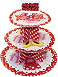 Amscan Disney Minnie Mouse 3-Tier Cake/ Stand, Red