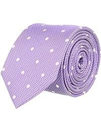 OTTO KERN Schmale Seiden- Krawatte Lila Gepunktet