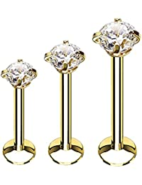 BodyJ4You 3-9PC Surgical Steel Tragus Earring Stud Set 16G Helix Piercing Jewelry 6mm-10mm