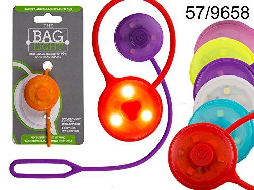 Sicherheitslicht  Handtaschenlicht mit Silikonanhänger 2 Leuchtmodi und 3 LED (inkl. Batterien) D:  3cm