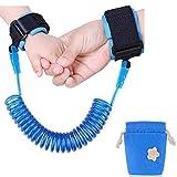 Carryme Baby Kinder Anti-Verloren Sicherheitsleine Kindergehen Handgelenk Band Kinder Sicherheit Handgelenk Link Handschlaufe Laufleine alte Menschen Traktion Seil (Blau)