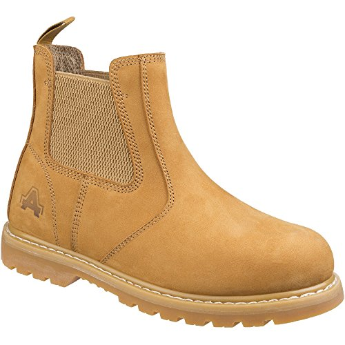 Amblers Safety Mens AS175 Goodyear Welted Pull on Safety Dealer Boots - Wasserdicht Stiefel Arbeit Toe Steel