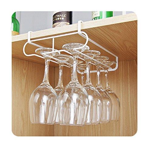 EJY Gläserhalter Gläserschiene Weinglashalterung edelstahl Hangers Rack Halter Für Bar, Zuhause,...