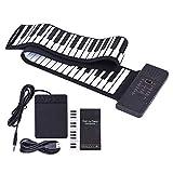SH-CJ Portable Handrolle Piano 88 Tasten mit umweltfreundlicher Silikon-Klaviertastatur für Anfänger
