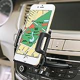 iVoler® Universal Soporte Móvil Coche para Ranura de CD de Coche con 360°Rotación Sostenedor para télefono móvil, iPhone 7/7 Plus/6S/6s Plus/6/6 Plus/5S/5C/SE/4s, Samsung, Motorola, Sony, Huawei P9 Lite, Xiaomi, GPS, MP3 Player y más Ancho de 50-95 mm