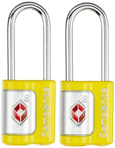 Samsonite Travel Accessories Us Air Trkey Lock Set Lucchetto per Valigie, 2 Pezzi, Giallo, 7 cm