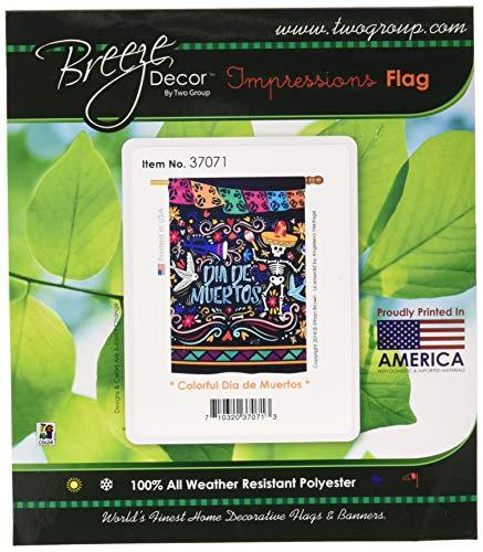 37071Colorful Dia de Muertos Fall Halloween Deko Vertikal House Flagge, 71,1x 101,6cm Multicolor ()