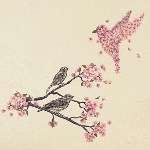 Handyhülle mit Tier-Design: iPhone 7 Hülle / aus recyceltem PET / robuste Schutzhülle / Stylisches & umweltfreundliches iPhone 7 Case - Apple iPhone 7 Schutzhülle: Blossom Bird von Terry Fan Blossom Bird von Terry Fan