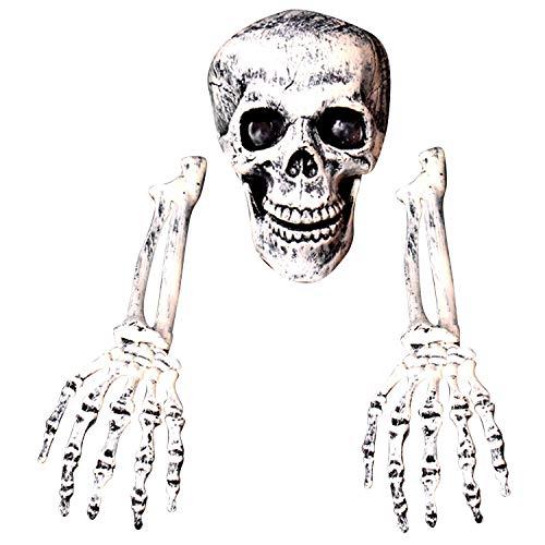 3 stücke Scary Künstliche Harz Menschlichen Skelette Gebrochenen Knochen Schädel für Haunted Home Halloween Party Requisiten Dekoration