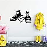 WSLIUXU Scarpe carine Adesivi murali per la scuola materna Adesivi murali in vinile Accessori per la decorazione della camera dei bambini Murales GIALLO L 43cm X 72cm