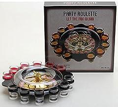 Idea Regalo - Vetrineinrete® Gioco da tavolo roulette russa alcolico con shottini 12 bicchierini drinking game per feste shot party divertimento E46