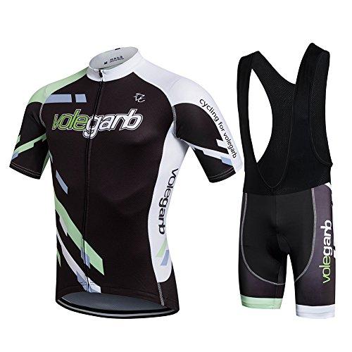 Fastar Ropa Verano Conjunta de Ciclismo de Hombre - Ciclismo Maillot Jersey y Pantalones cortos