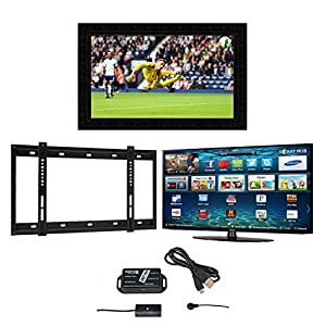 Barbican Samsung Widescreen Full HD 3D Smart LED Television, Barbican TV Mirror Frame, Wall Bracket and Infra Red Extender with 5 Years Manufacturer's Warranty