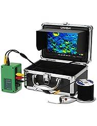 Lixada Lixada 20 M 1000TVL Caméra de Pêche sous-marine Kit 6 PCS LED s'allume avec 7 pouces Couleur Moniteur de Pêche Caméra 20 M câble EU Plug
