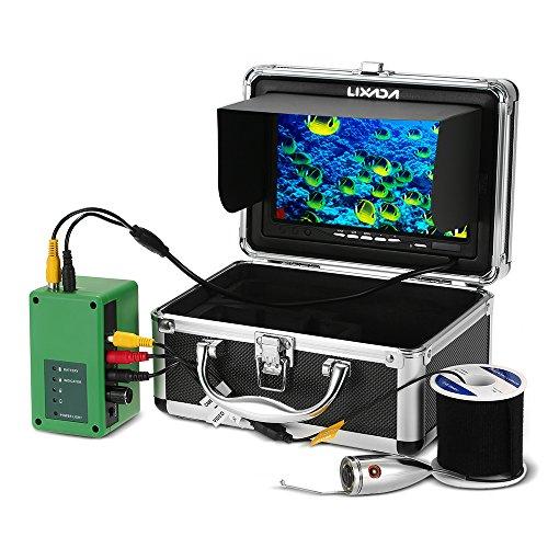Lixada Fischfinder Unterwasserfischen Kamera 20M 1000TVL 6 PCS LED beleuchtet mit 7 Zoll-Farben-Monitor-Fischen-Kamera