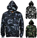Search : Mens camouflage camo hooded fleece sweatshirt.