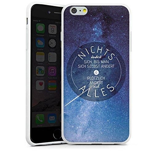 Apple iPhone X Silikon Hülle Case Schutzhülle Leben Motivation Weisheit Silikon Case weiß