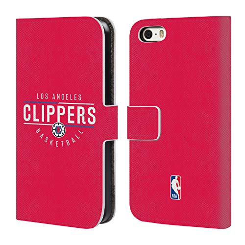 Head Case Designs Offizielle NBA Logotyp 2018/19 Los Angeles Clippers Leder Brieftaschen Huelle kompatibel mit iPhone 5 iPhone 5s iPhone SE (Los 5s Iphone Angeles Clippers)