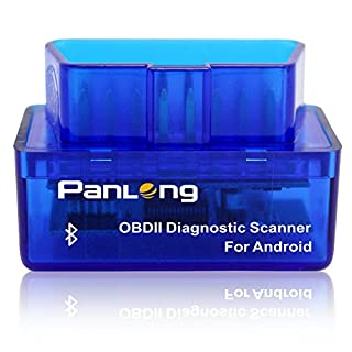 Panlong Bluetooth OBD2 Car Diagnostic Scanner Reader ELM 327 Check Engine Light for Android - Work with Torque Pro/Lite
