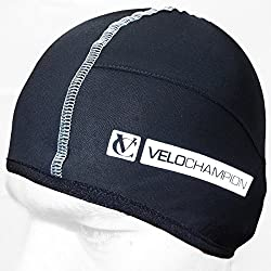 VeloChampion Casquete de ciclismo Thermo Tech - Gorro Bajo-casco - Negro Cycling Skull Cap