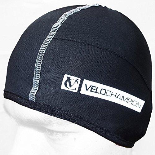 VeloChampion Thermo Tech Cycling Skull Cap - Under Helmet Hat - Black