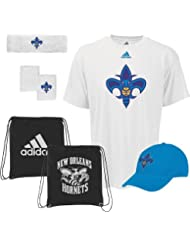 New Orleans Hornets Adidas NBA To the Court 5-Piece Shirt Chemise Hat Combo Pack