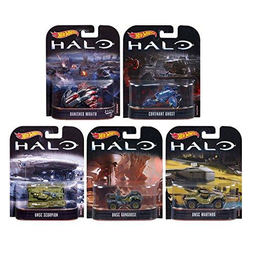Toys Hot Halo (SET von 5 Modelle aus HALO in 1/64 Maßstab Hot Wheels DieCast)