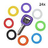 Fundas elásticas para llaves (24 unidades), diferentes colores
