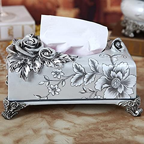YUENLONG Continental box carta regali creativi home decor artigianato Pearl White Rose