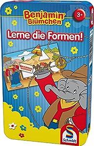 Schmidt Spiele Benjamin Blümchen: Lerne Die Formen! Niños Juego Educativo - Juego de Tablero (Juego Educativo, Niños, 10 min, Niño/niña, 3 año(s), 114 mm)