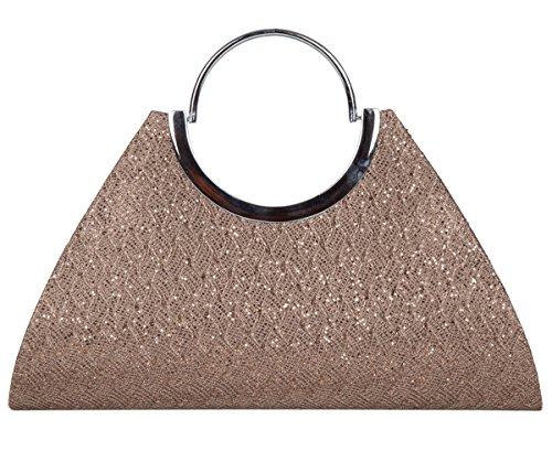 ADISA CL025 copper women girls clutch