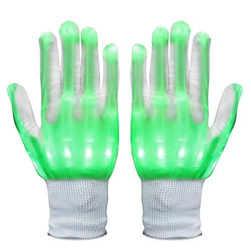 Kostüm Led Kinder - Neusky LED Leucht Handschuhe, Blink Party Leuchthandschuhe für Halloween, Karneval, Weihnachten oder Mottoparties (Grün)