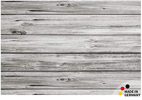 matches21 Fußmatte Fußabstreifer Essence Motiv Holz Dielen grau 40x60x0,5 cm rutschfest maschinenwaschbar