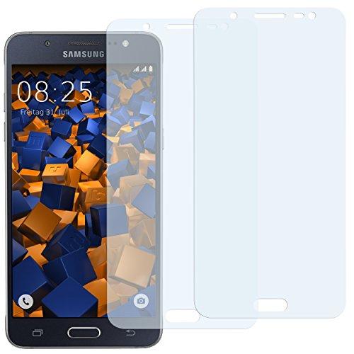 mumbi Schutzfolie kompatibel mit Samsung Galaxy J5 2016 Folie klar, Bildschirmschutzfolie (2x)