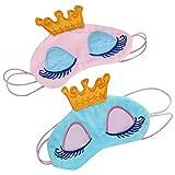 EQLEF® 17x11cm Mädchen-Augen-Abdeckungs-Karikatur-Krone-große Wimper-Büro-Schlaf-Augen-Schablone (2pcs)