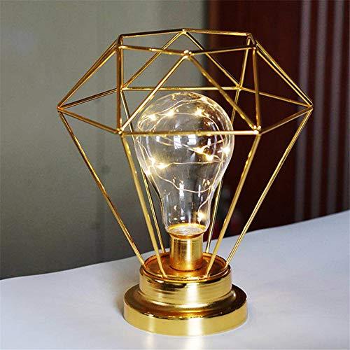 Eisen Tischlampe Nachtlicht Messing Diamant Kerzenständer Knopfschalter Minimalistische Kunst Ins Modellieren Lampe (Tische Kleinkinder Kunst Für)