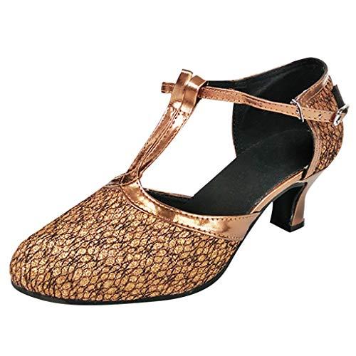 Scarpe da Sposa da Donna Vendita Scarpe da Ballo Valzer Ballroom Moderno Danza Latina Sandali con Fondo Morbido di Kinlene