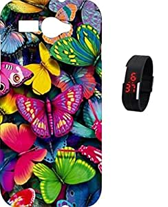 BKDT Marketing Printed Back Cover for Intex Aqua Young with Digital Watch