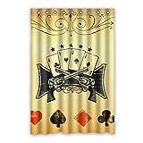 DongMen Kundenspezifische Poker Spiel Bild Wasserdichte Stoff Bad Duschvorhang 120cm x 183cm