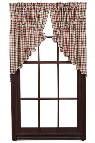 Victory Prairie Swag Scalloped Lined Set of 2 36x36x18 by Ashton & Willow - Prairie Willow