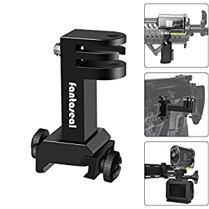 2in1 Action Camera Gun Mount, Picatinny Rail Adapter for Gopro Hero 6/5/4/3+/3/Session Sony Sports Camera and Other Cameras for Hunting Gun Shotgun Airsoft Gun Air Rifle Pistol Carbine Gun & More from Victool