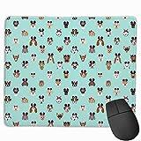 Luancrop Mouse Pad per Cani Teste per Cani Parco Giochi per Le Vacanze Tappetino per Mouse rettangolo Antiscivolo Tappetini per Mouse in Gomma Tappetino per Computer Laptop Home Office